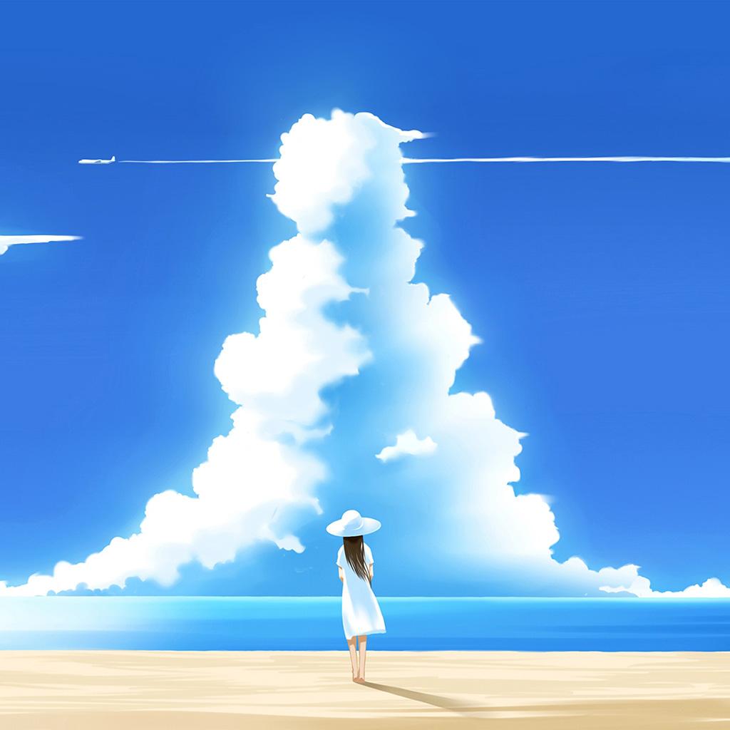 wallpaper-az65-girl-animeo-blue-sky-illustration-art-wallpaper