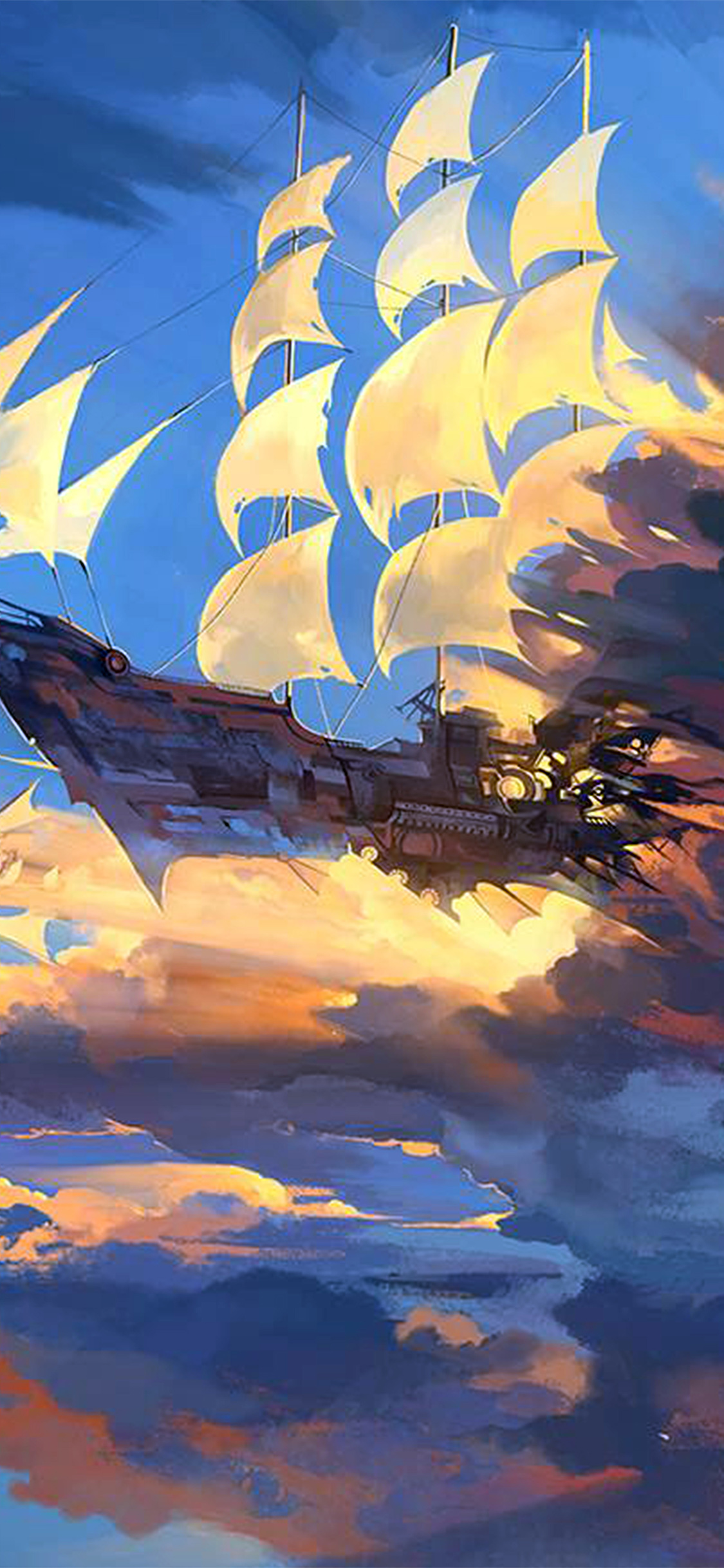 iPhoneXpapers.com-Apple-iPhone-wallpaper-az67-fly-ship-anime-illustration-art