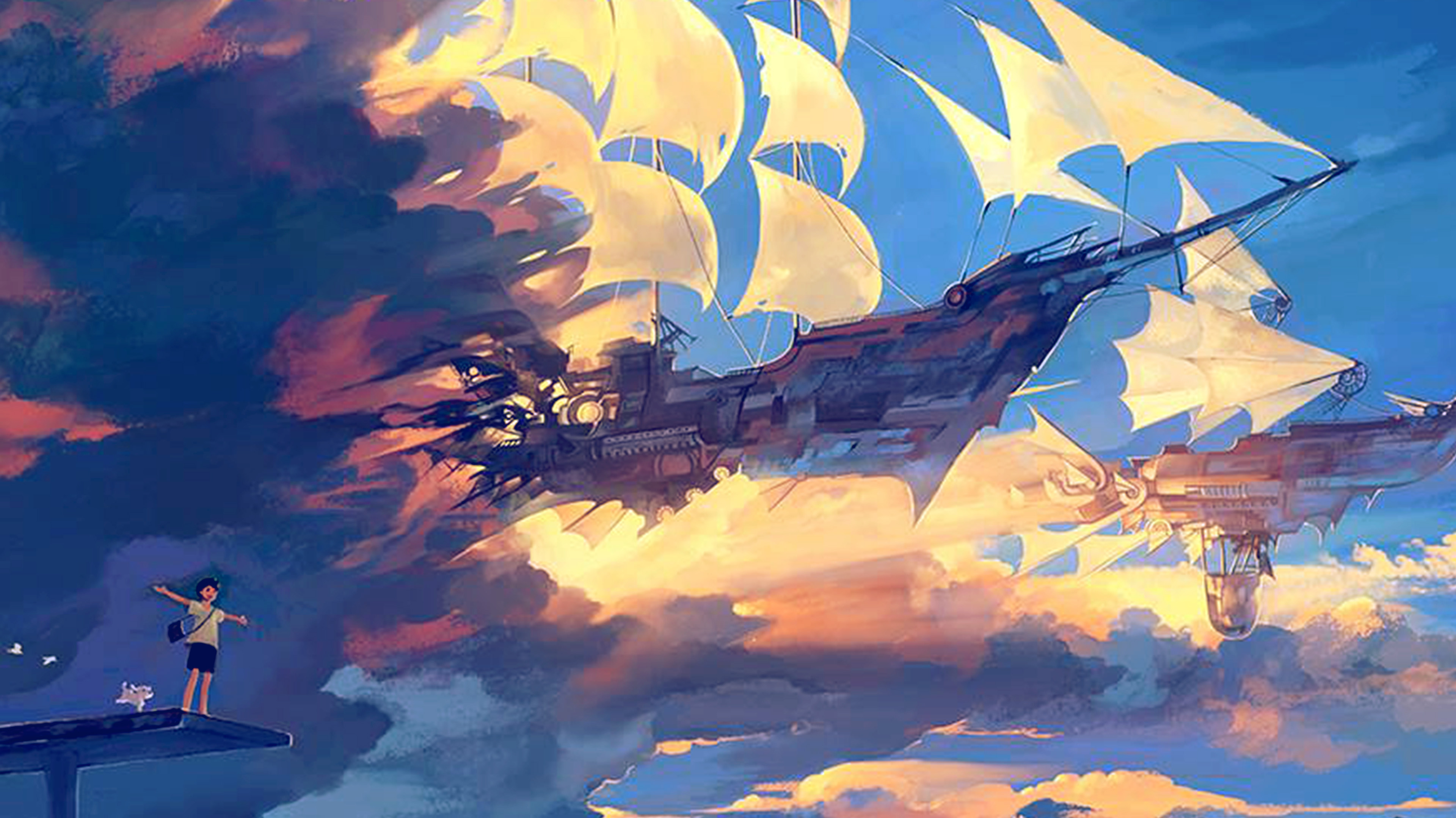 wallpaper for desktop, laptop | az68-fly-ship-anime ...