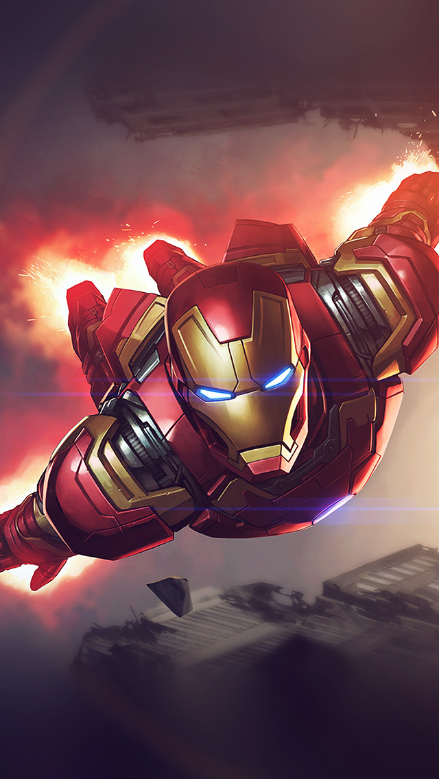 freeios8.com-iphone-4-5-6-plus-ipad-ios8-az71-ironman-hero-marvel-illustration-art-blue-flare