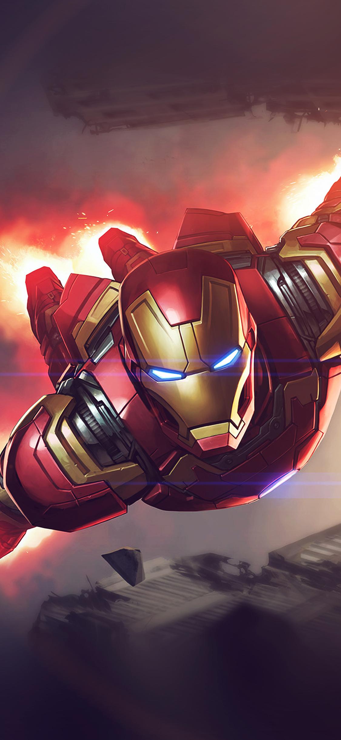 iPhonexpapers.com-Apple-iPhone-wallpaper-az71-ironman-hero-marvel-illustration-art-blue-flare