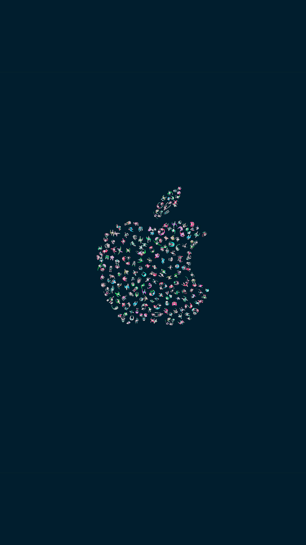 Iphone7paperscom Iphone7 Wallpaper Az74 Wwdc Apple Logo Dark