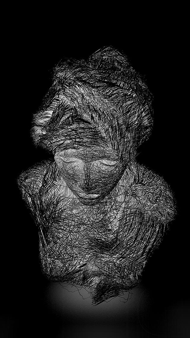 freeios8.com-iphone-4-5-6-plus-ipad-ios8-az80-face-line-fine-illustration-art-dark