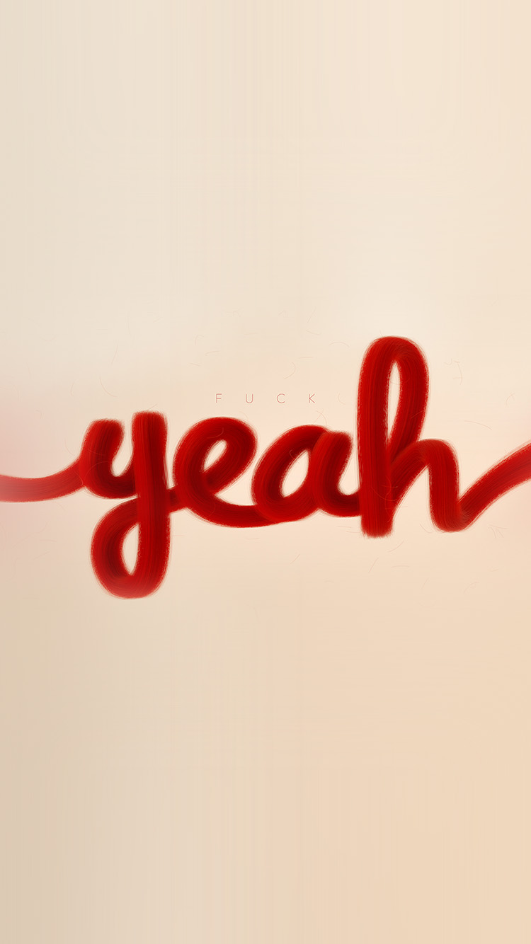 Papers.co-iPhone5-iphone6-plus-wallpaper-az84-fuck-yeah-red-calligraphy-illustration-art