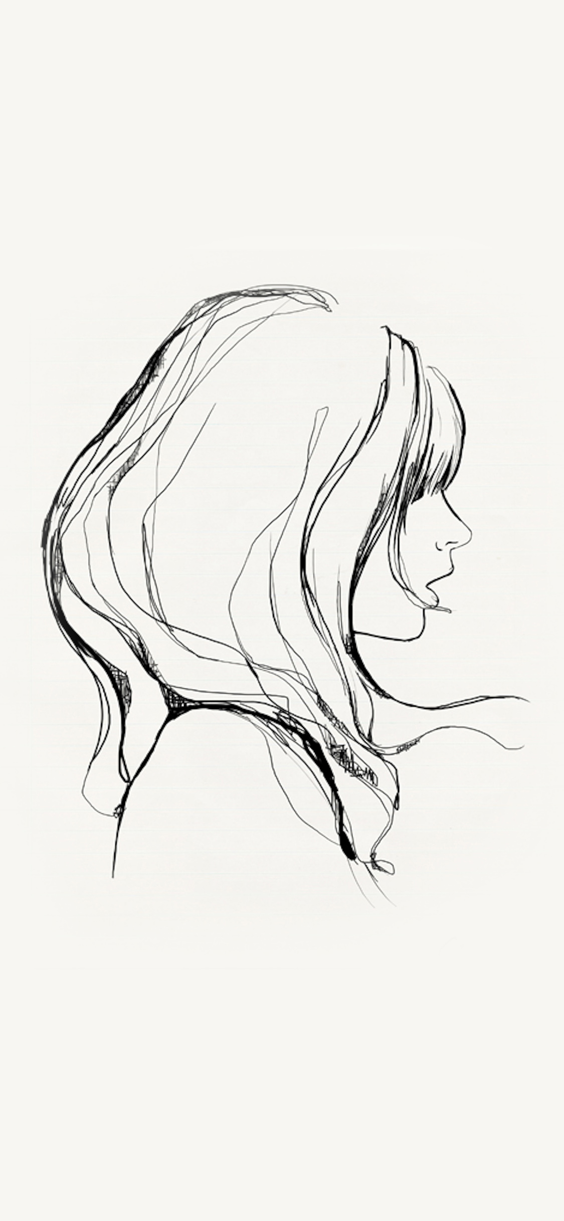 iPhoneXpapers.com-Apple-iPhone-wallpaper-az87-drawing-simple-minimal-girl-illustration-art