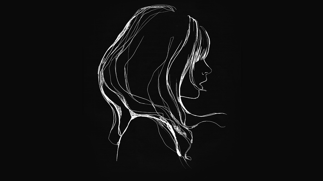 Wallpaper For Desktop Laptop Az88 Drawing Simple Minimal Girl Illustration Art Dark