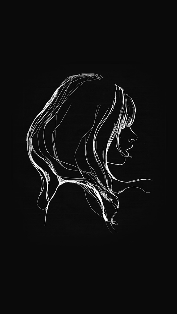 iPhone7papers.com-Apple-iPhone7-iphone7plus-wallpaper-az88-drawing-simple-minimal-girl-illustration-art-dark