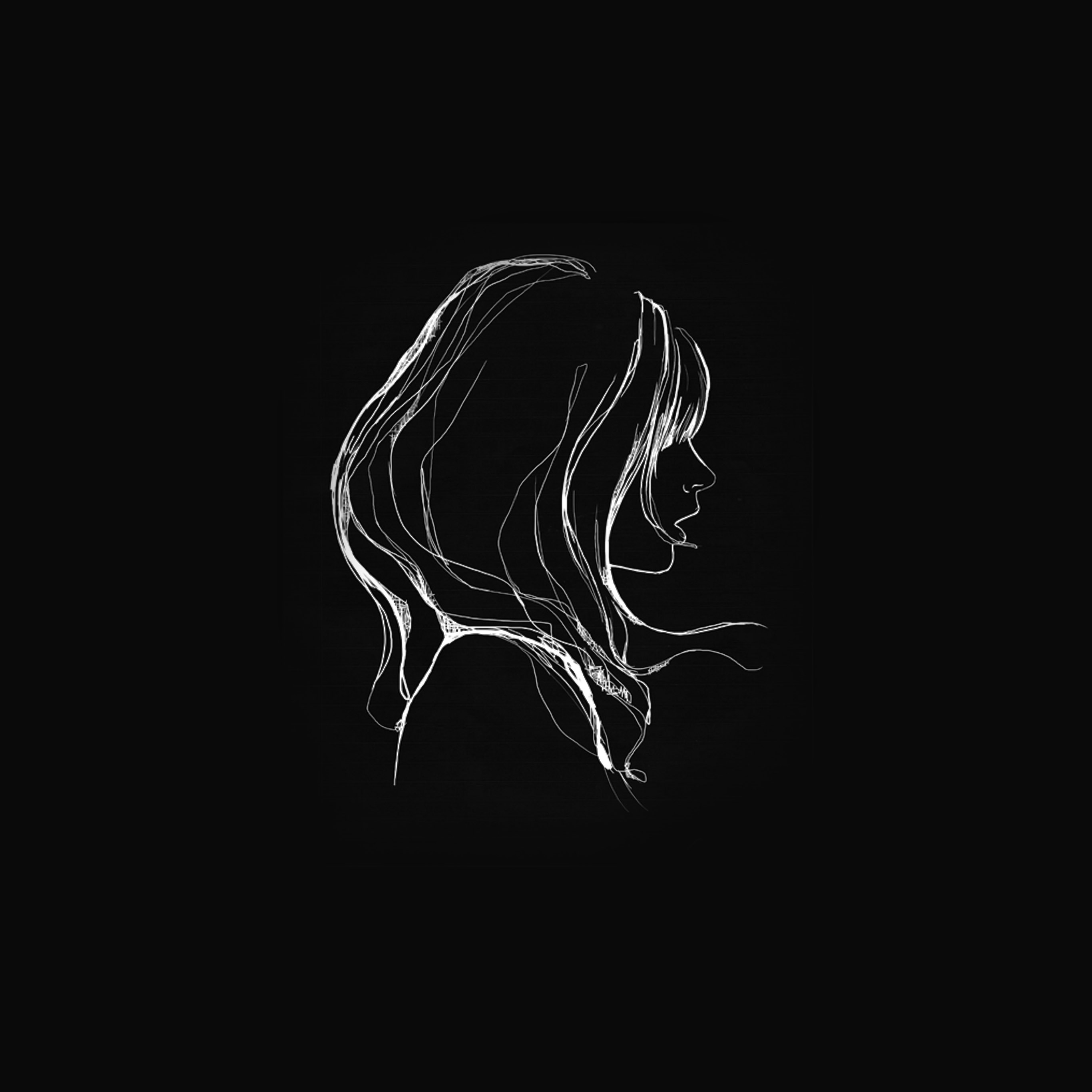 papers.co az88 drawing simple minimal girl illustration art dark 40 wallpaper