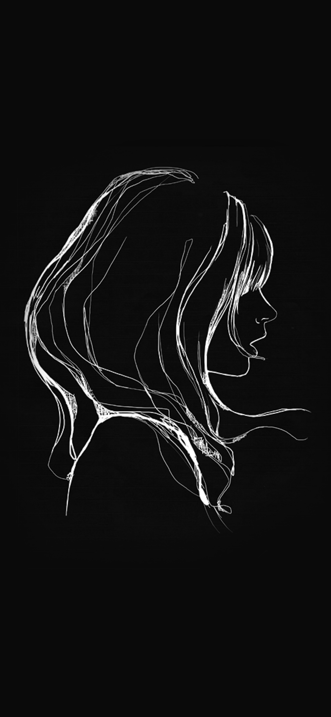 iPhonexpapers.com-Apple-iPhone-wallpaper-az88-drawing-simple-minimal-girl-illustration-art-dark