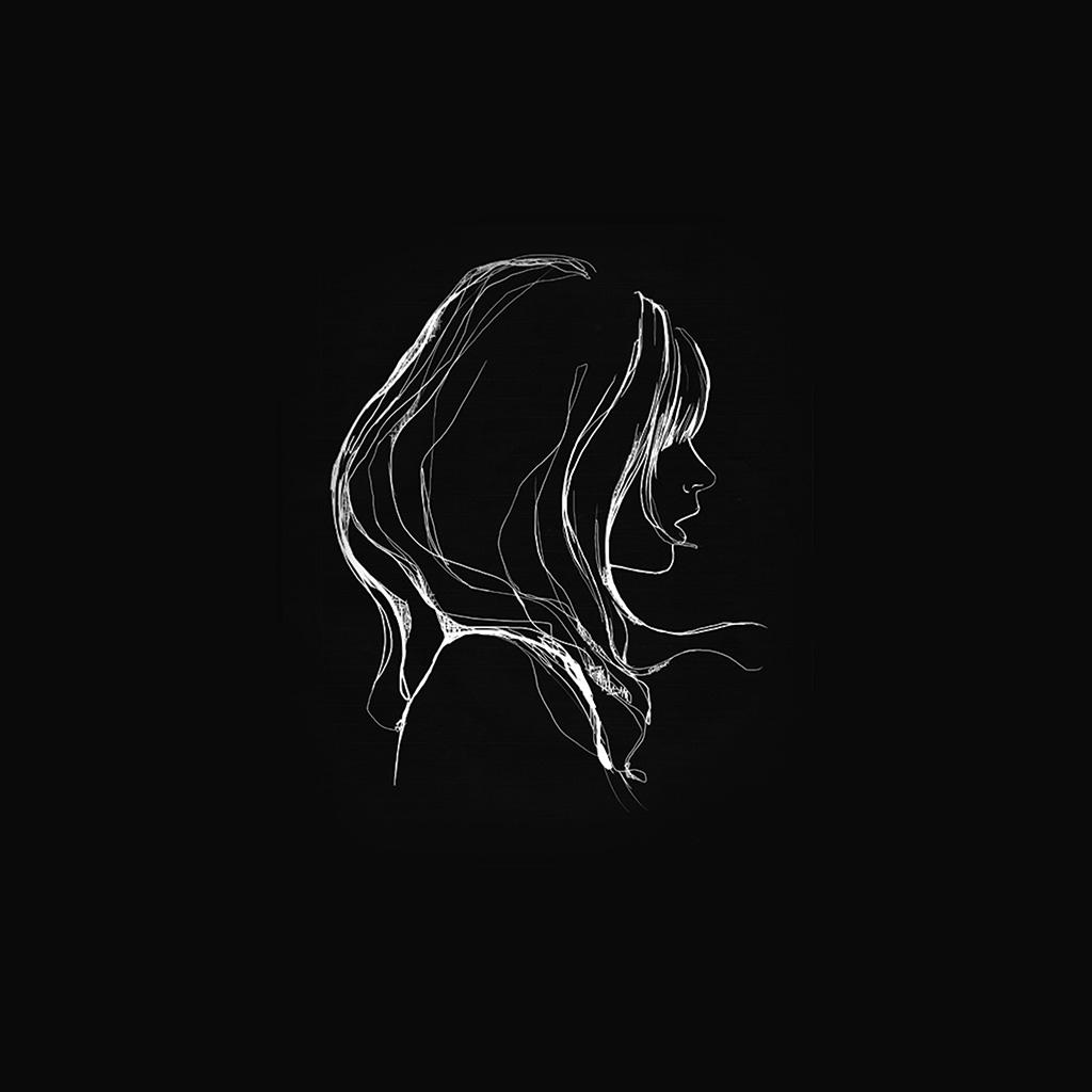 wallpaper-az88-drawing-simple-minimal-girl-illustration-art-dark-wallpaper