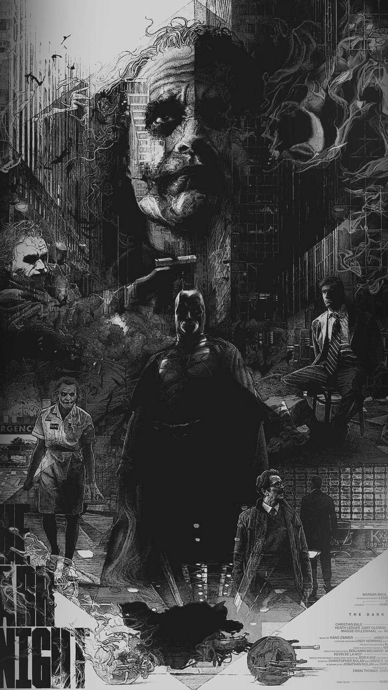 Az95 Joker Batman Poster Film Hero Illustration Art Wallpaper