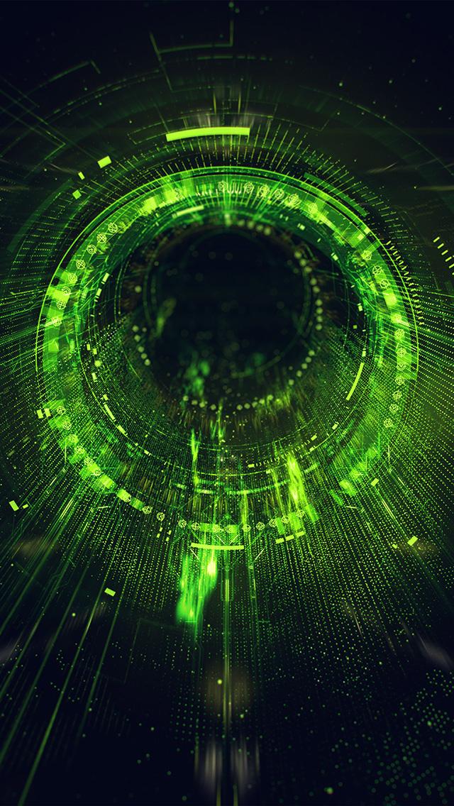 freeios8.com-iphone-4-5-6-plus-ipad-ios8-ba03-circle-blackhole-green-digital-illustration-art
