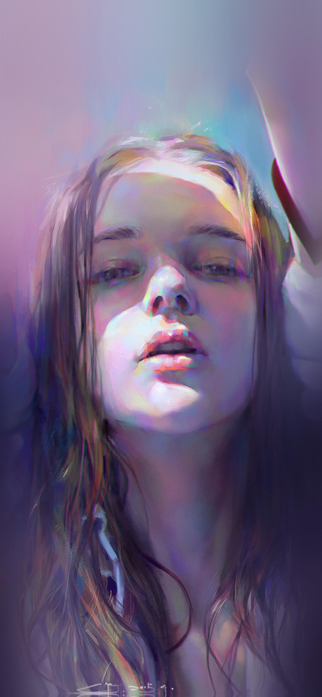 iPhoneXpapers.com-Apple-iPhone-wallpaper-ba07-girl-anime-purple-illustration-art