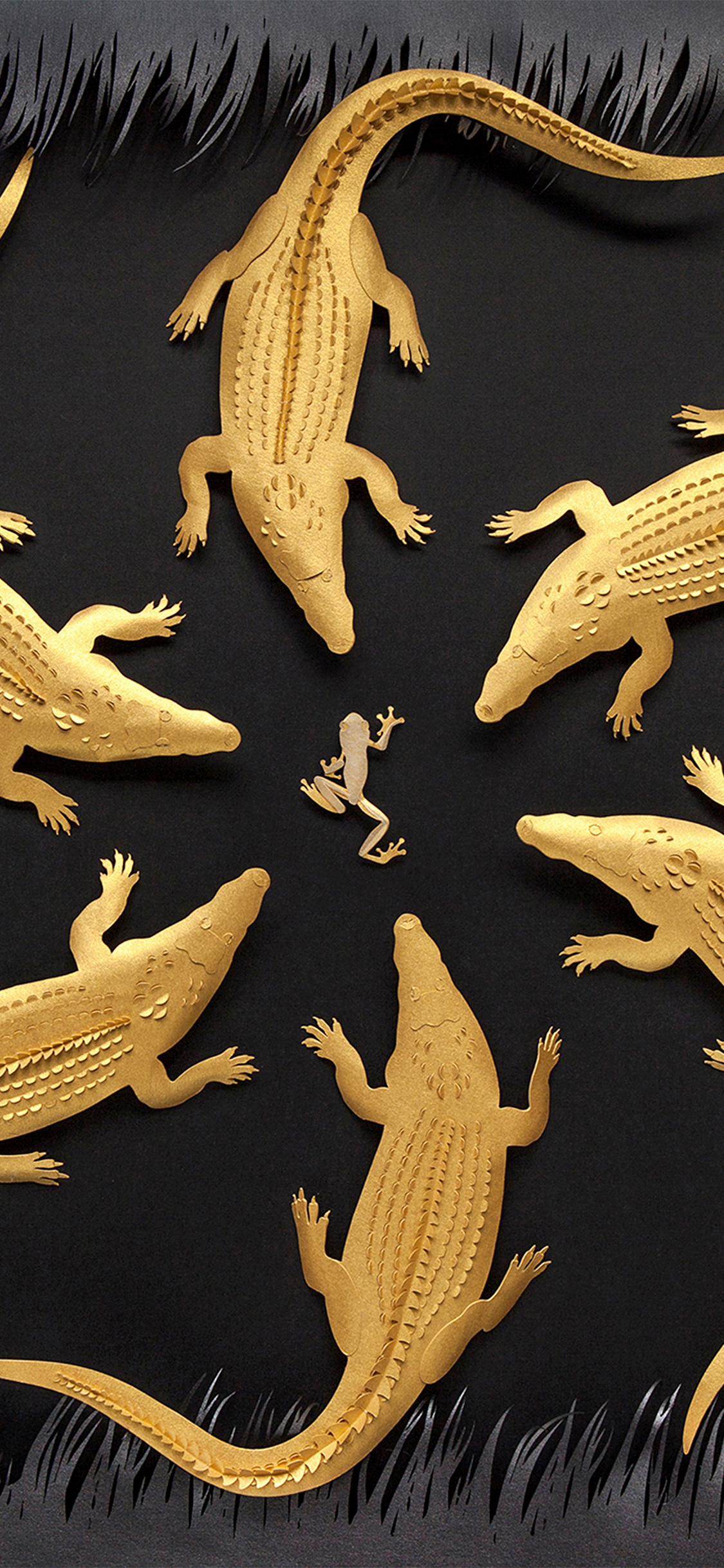 iPhoneXpapers.com-Apple-iPhone-wallpaper-ba11-gold-alligator-frog-illustration-art