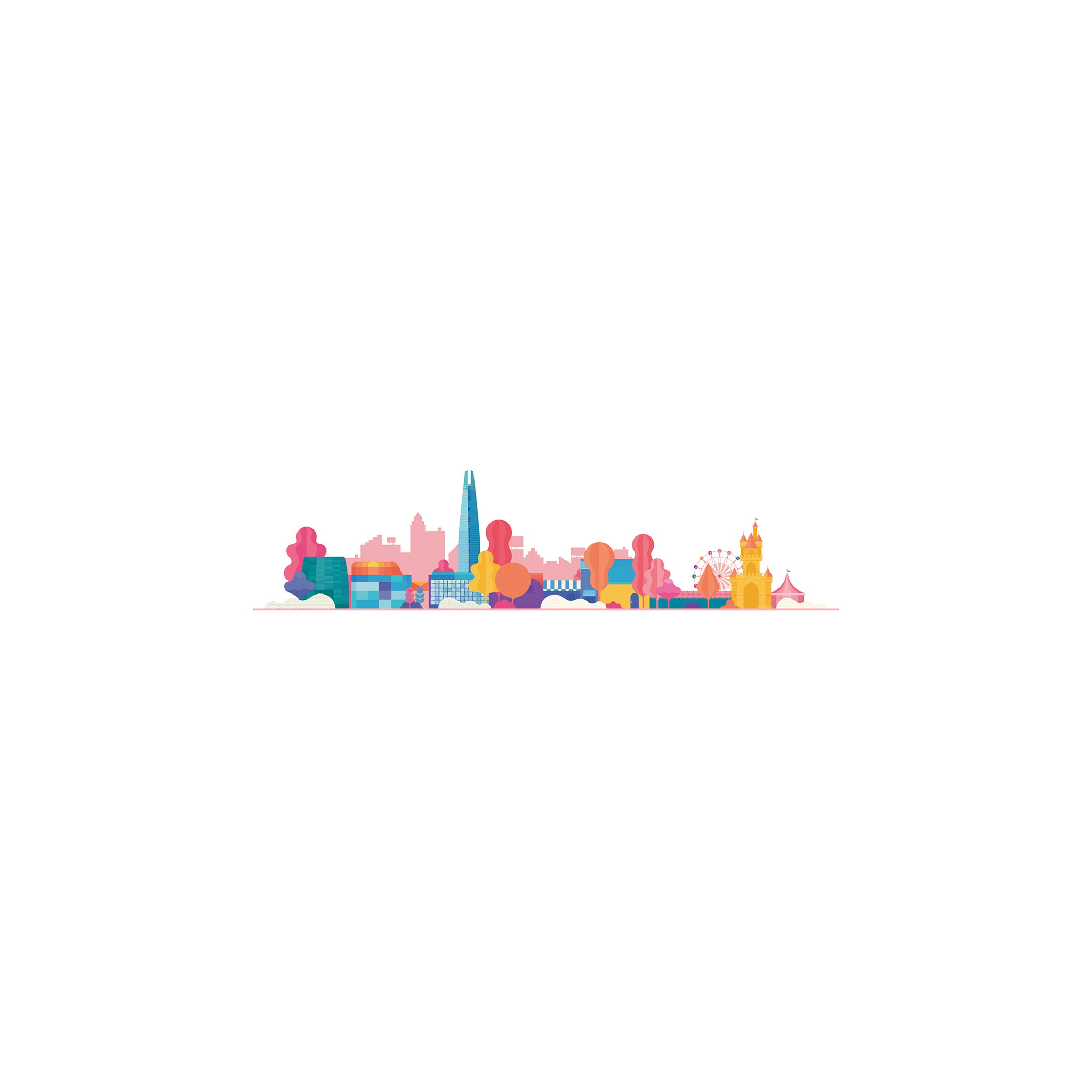 Wallpaper Iphone Minimalist: Ba13-city-cute-white-illustration-art-minimal-wallpaper