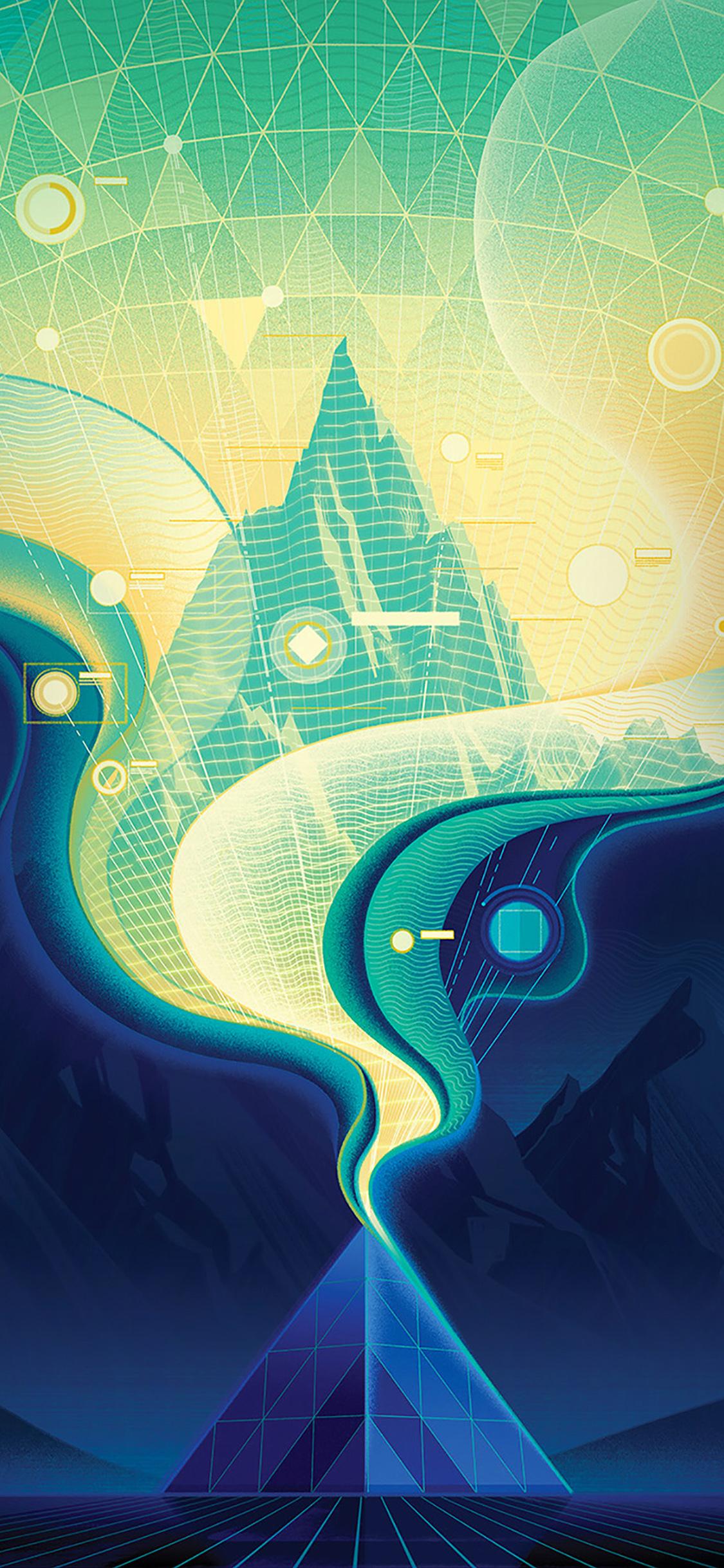 iPhoneXpapers.com-Apple-iPhone-wallpaper-ba16-digital-abstract-road-blue-illustration-art