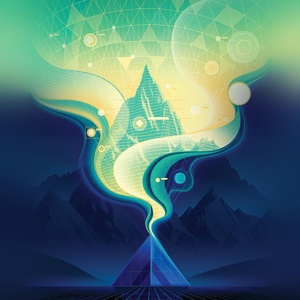 wallpaper-ba16-digital-abstract-road-blue-illustration-art-wallpaper