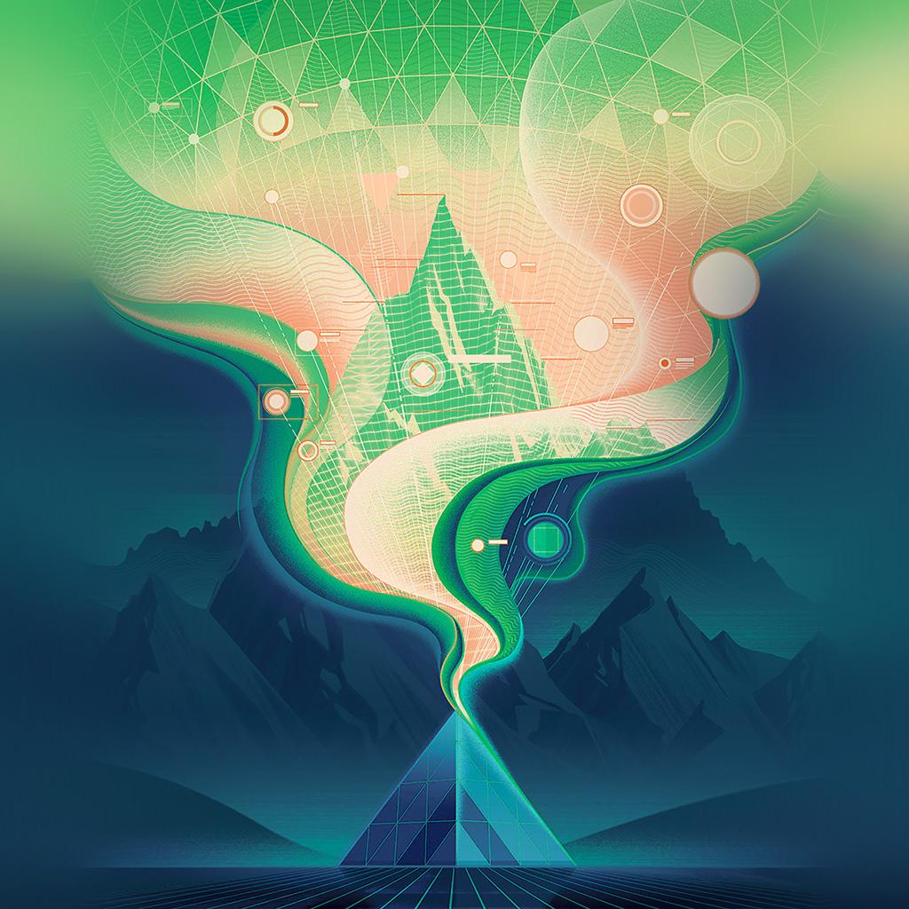 wallpaper-ba17-digital-abstract-road-blue-illustration-art-green-wallpaper