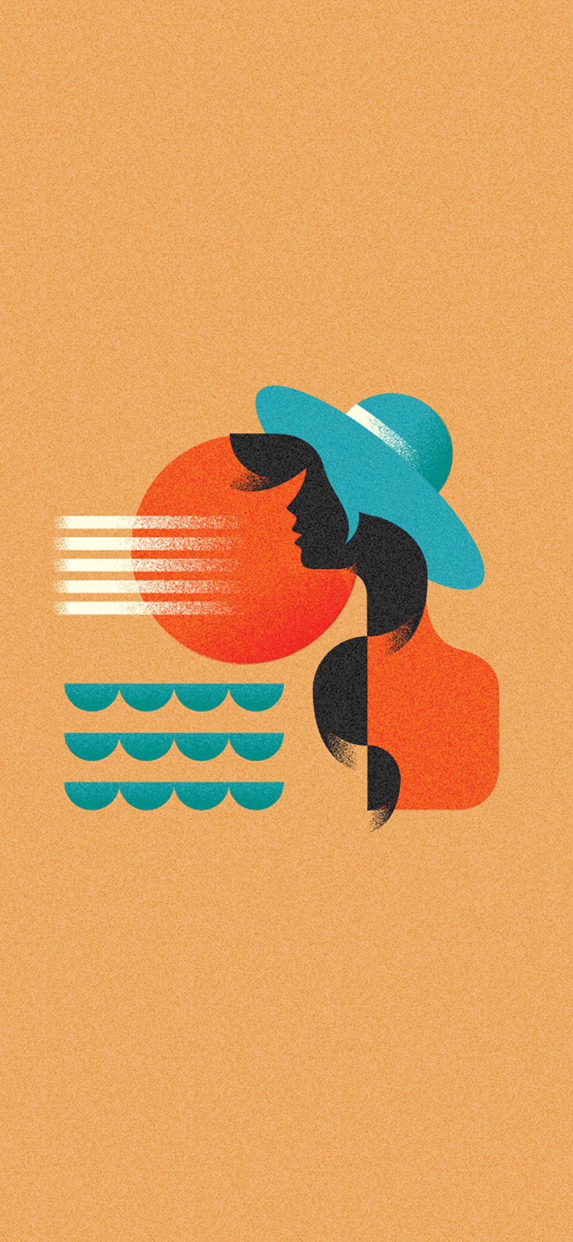 iPhoneXpapers.com-Apple-iPhone-wallpaper-ba18-girl-patten-orange-minimal-illustration-art