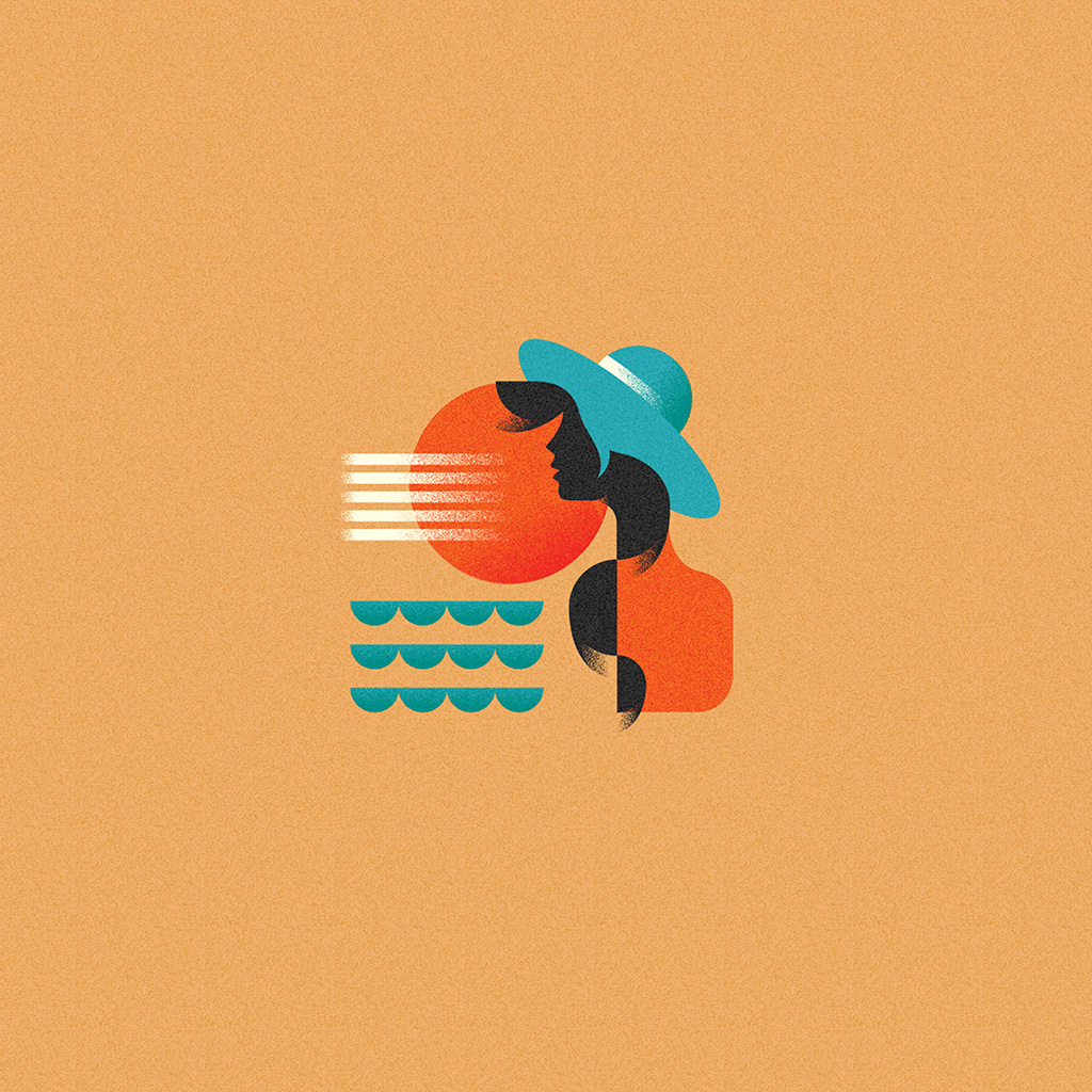 wallpaper-ba18-girl-patten-orange-minimal-illustration-art-wallpaper