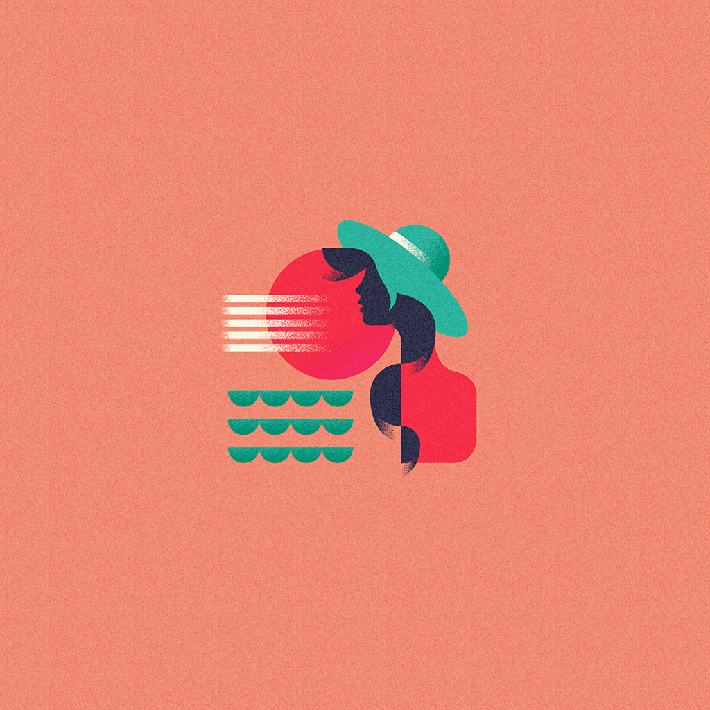 wallpaper-ba19-girl-patten-orange-minimal-illustration-art-pink-wallpaper