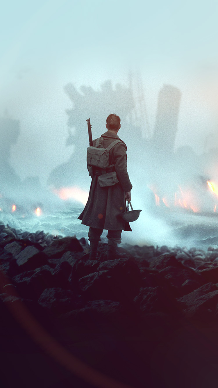 iPhonepapers.com-Apple-iPhone-wallpaper-ba21-dunkirk-war-film-illustration-art-flare