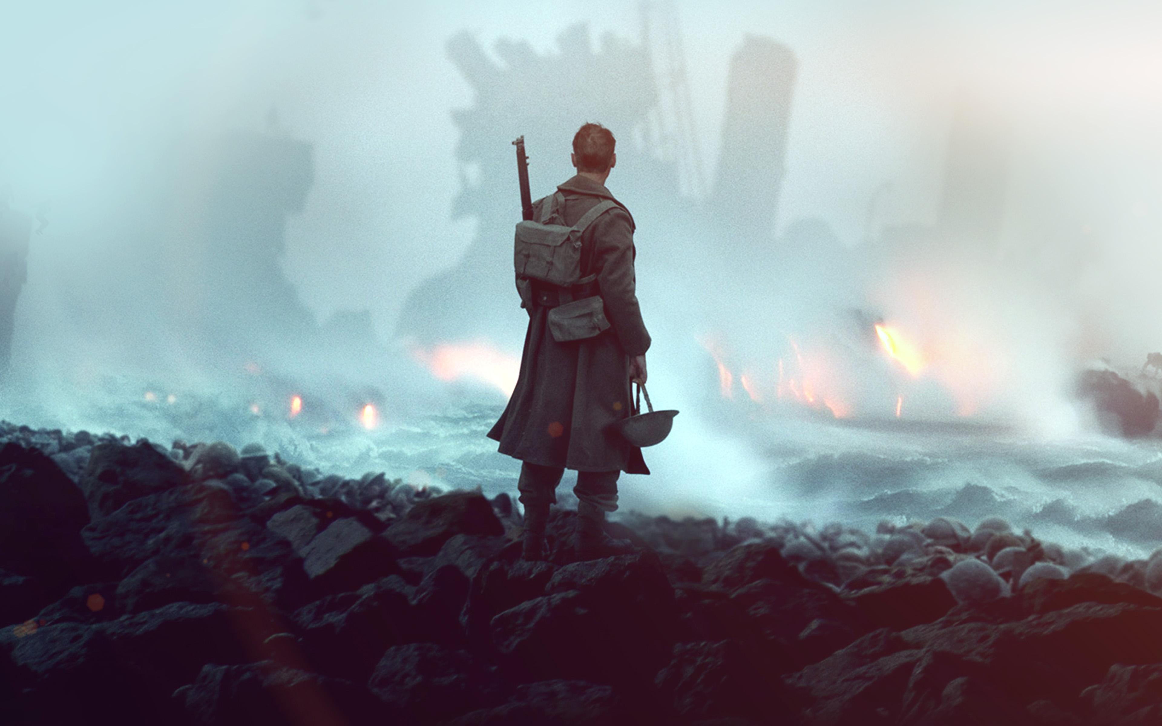 Ba21 Dunkirk War Film Illustration Art Flare Wallpaper