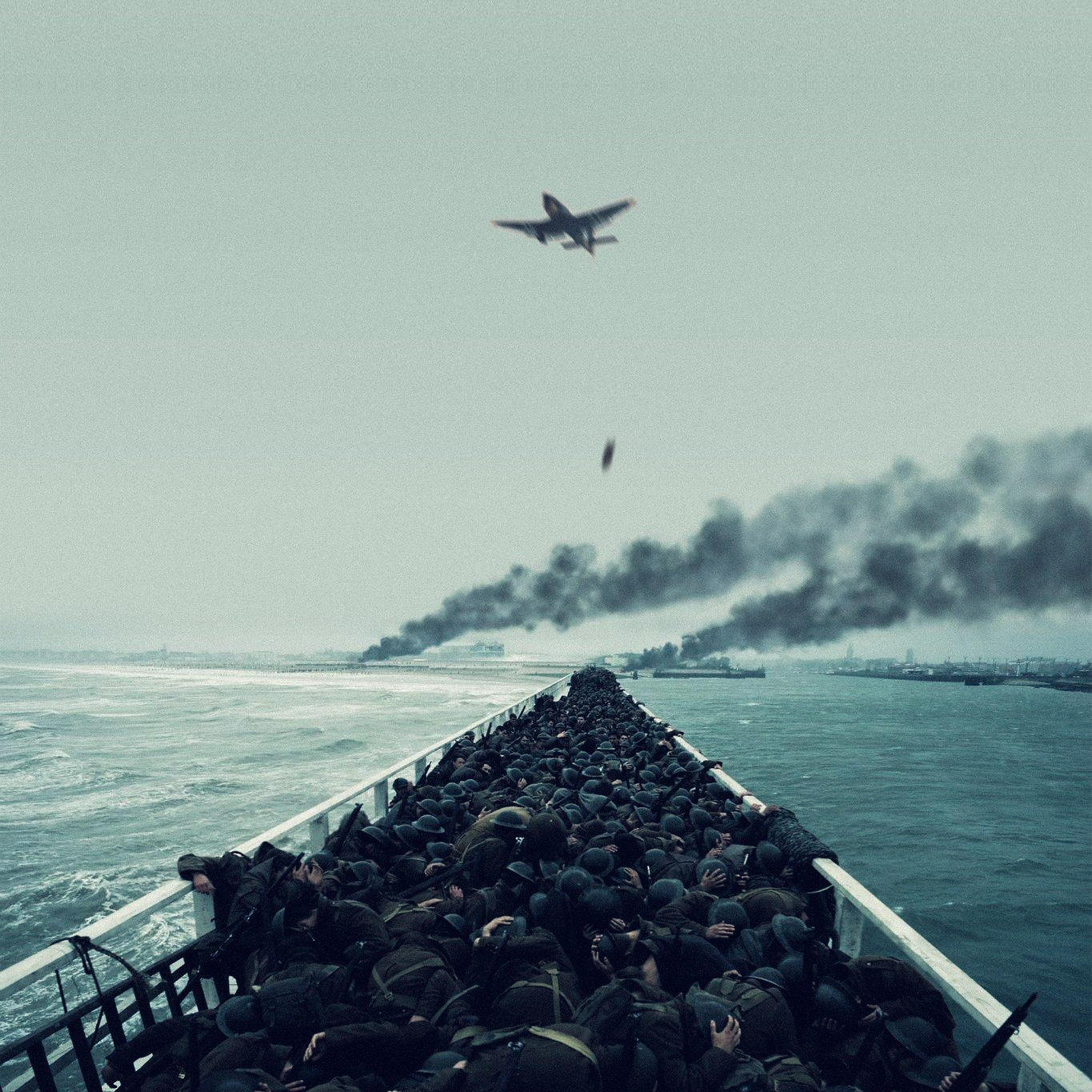 Ba22 Film War Dunkirk Boat Ship Illustration Art Wallpaper