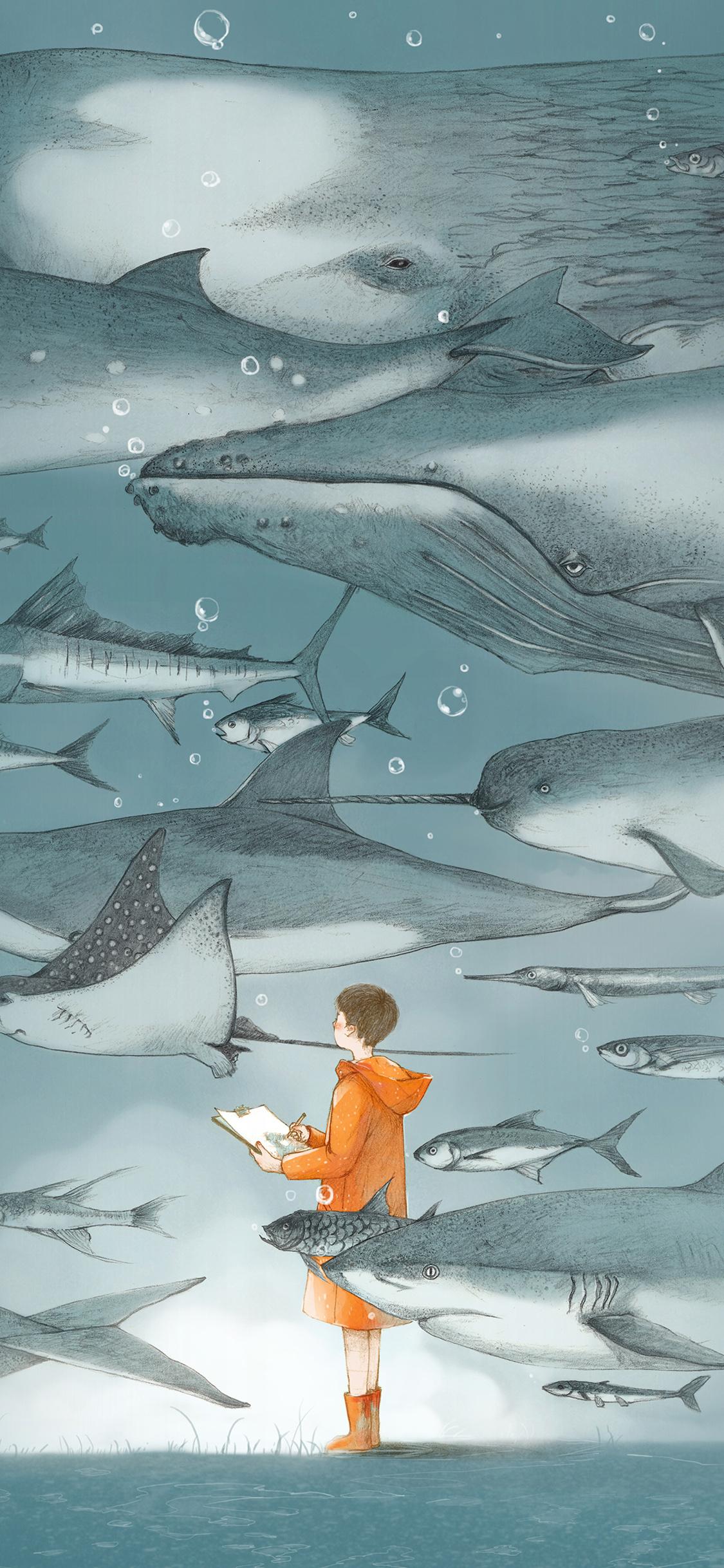iPhoneXpapers.com-Apple-iPhone-wallpaper-ba53-water-fish-pastel-animal-illustration-art