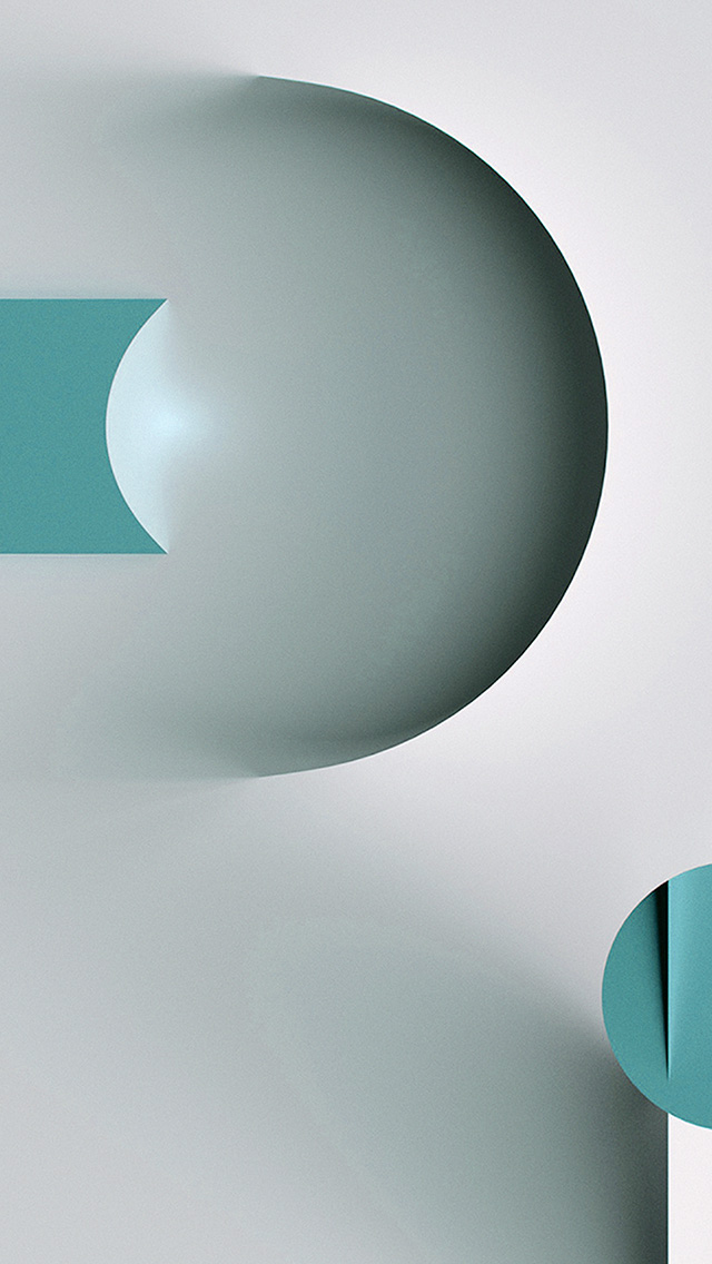 freeios8.com-iphone-4-5-6-plus-ipad-ios8-ba67-circle-line-simple-illustration-art-green