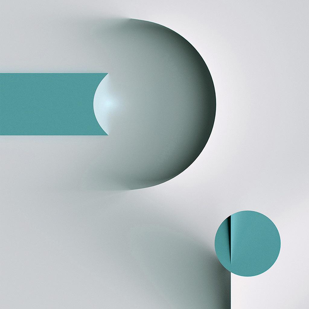 wallpaper-ba67-circle-line-simple-illustration-art-green-wallpaper