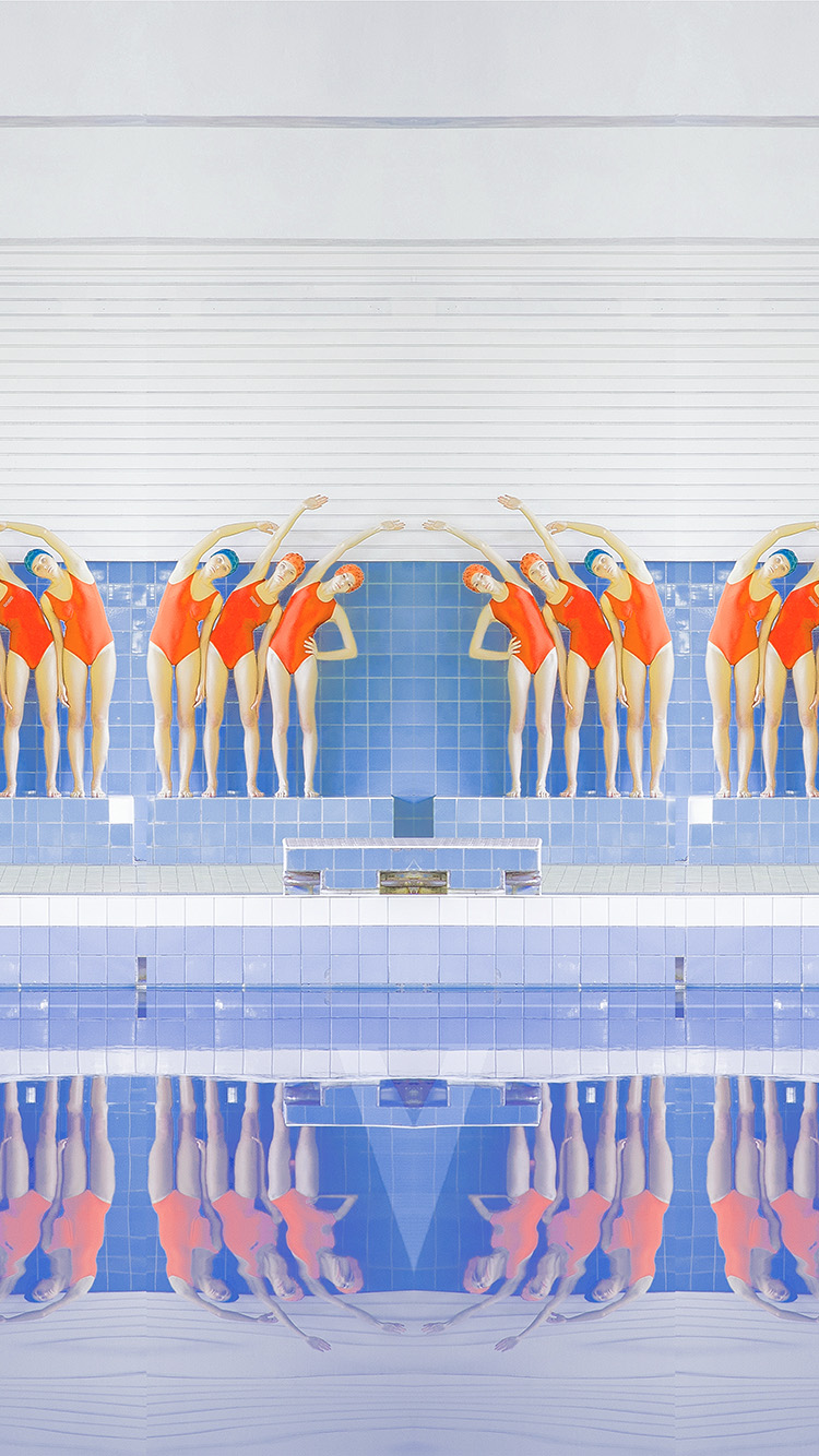 Papers.co-iPhone5-iphone6-plus-wallpaper-ba69-swim-girls-illustration-art-rainbow-color