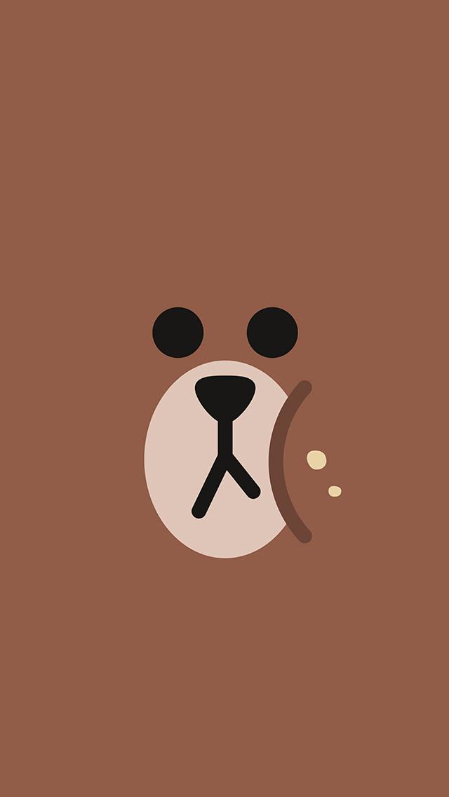 freeios8.com-iphone-4-5-6-plus-ipad-ios8-ba78-line-chractor-cute-brown-illustration-art