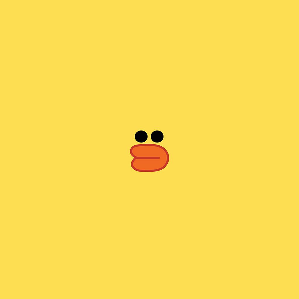 android-wallpaper-ba79-cute-line-charactor-yellow-duck-illustration-art-wallpaper