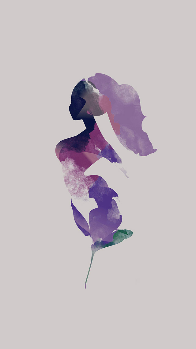 freeios8.com-iphone-4-5-6-plus-ipad-ios8-ba85-flower-white-woman-illustration-art