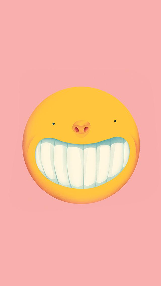 freeios8.com-iphone-4-5-6-plus-ipad-ios8-ba94-smile-love-pink-cute-illustration-art