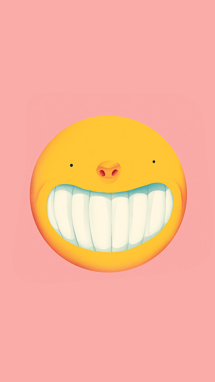 iPhonepapers.com-Apple-iPhone-wallpaper-ba95-smile-love-pink-cute-illustration-art-yellow