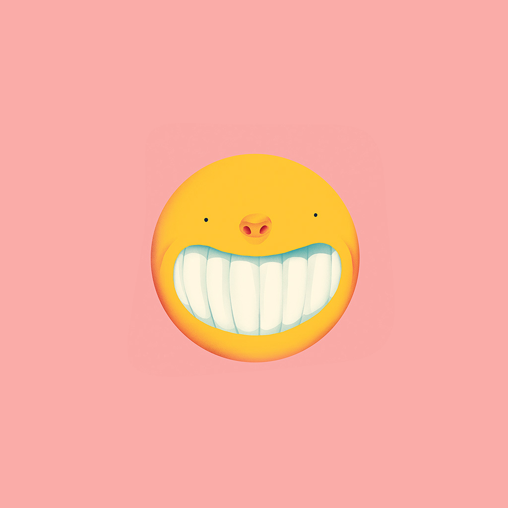 wallpaper-ba95-smile-love-pink-cute-illustration-art-yellow-wallpaper