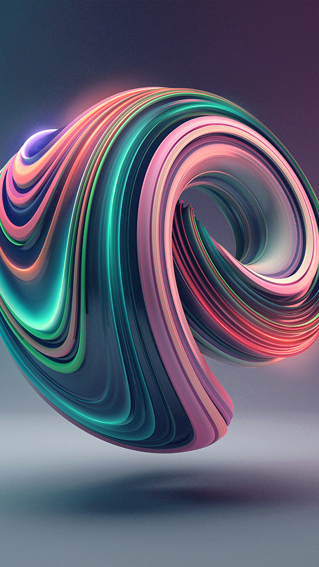 freeios8.com-iphone-4-5-6-plus-ipad-ios8-bb02-digital-art-color-circle-illustration-art-3d-green