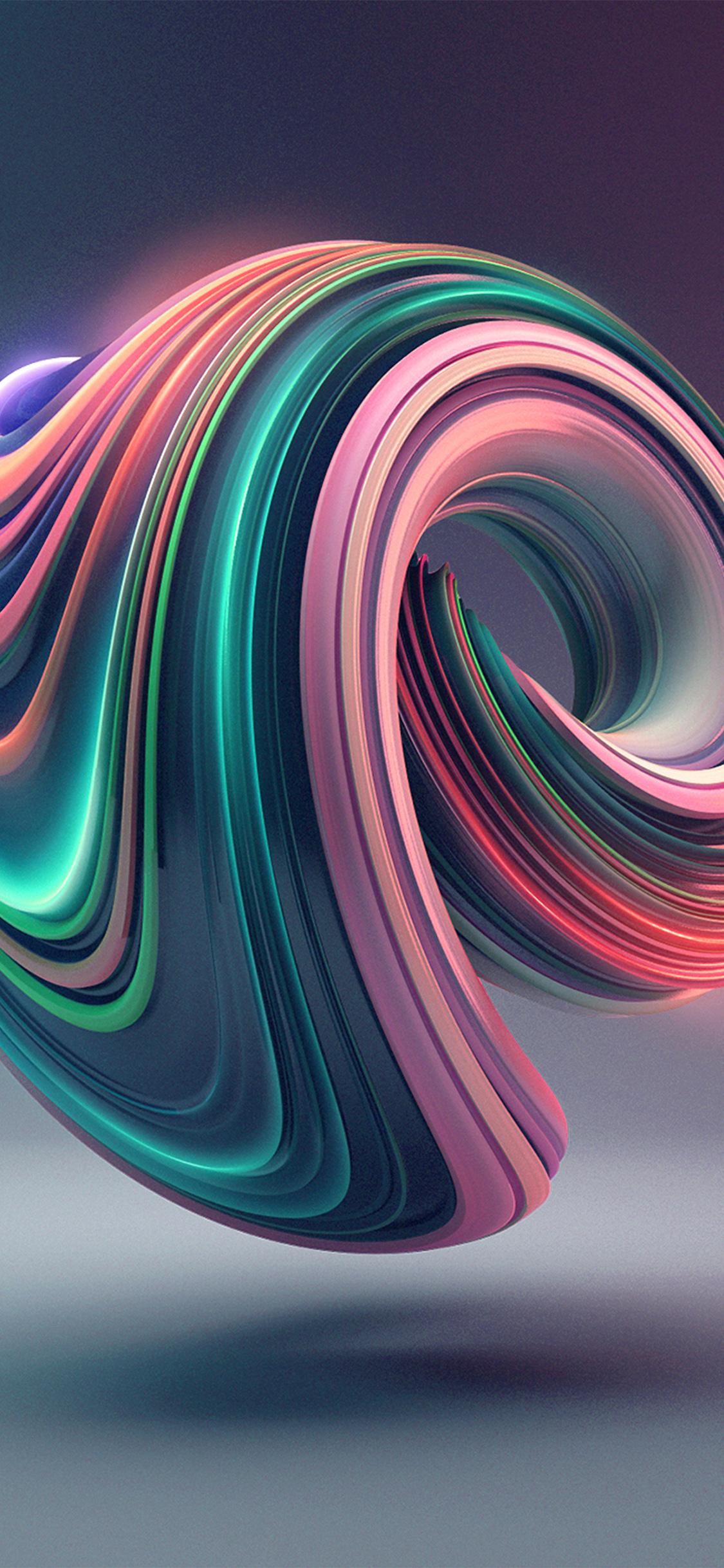 iPhonexpapers.com-Apple-iPhone-wallpaper-bb02-digital-art-color-circle-illustration-art-3d-green