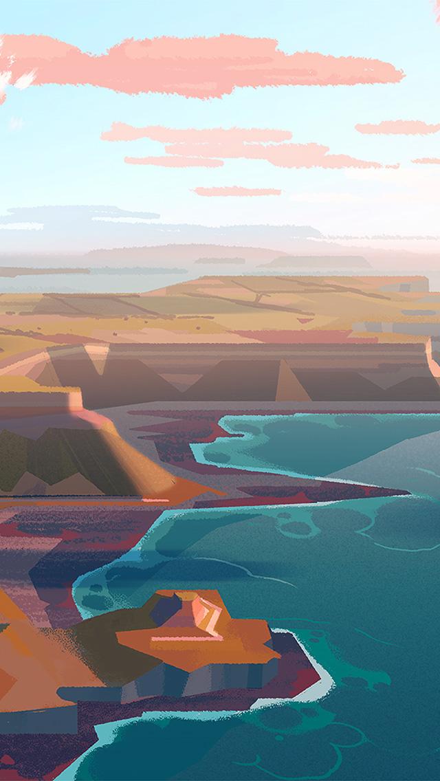 freeios8.com-iphone-4-5-6-plus-ipad-ios8-bb05-background-peace-mountain-illustration-art-color