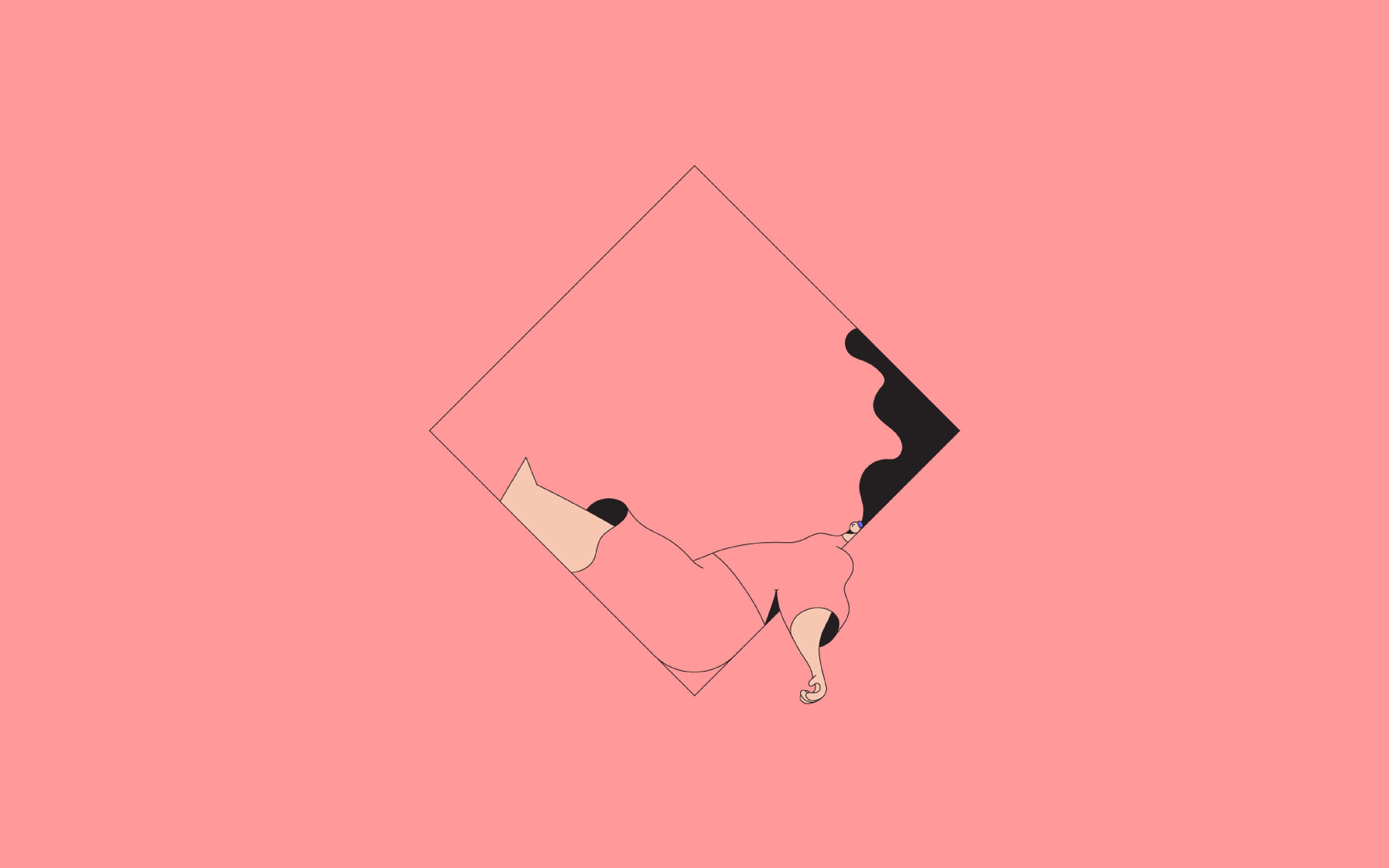 Bb08 minimal drawing pink illustration art for Minimal art essay
