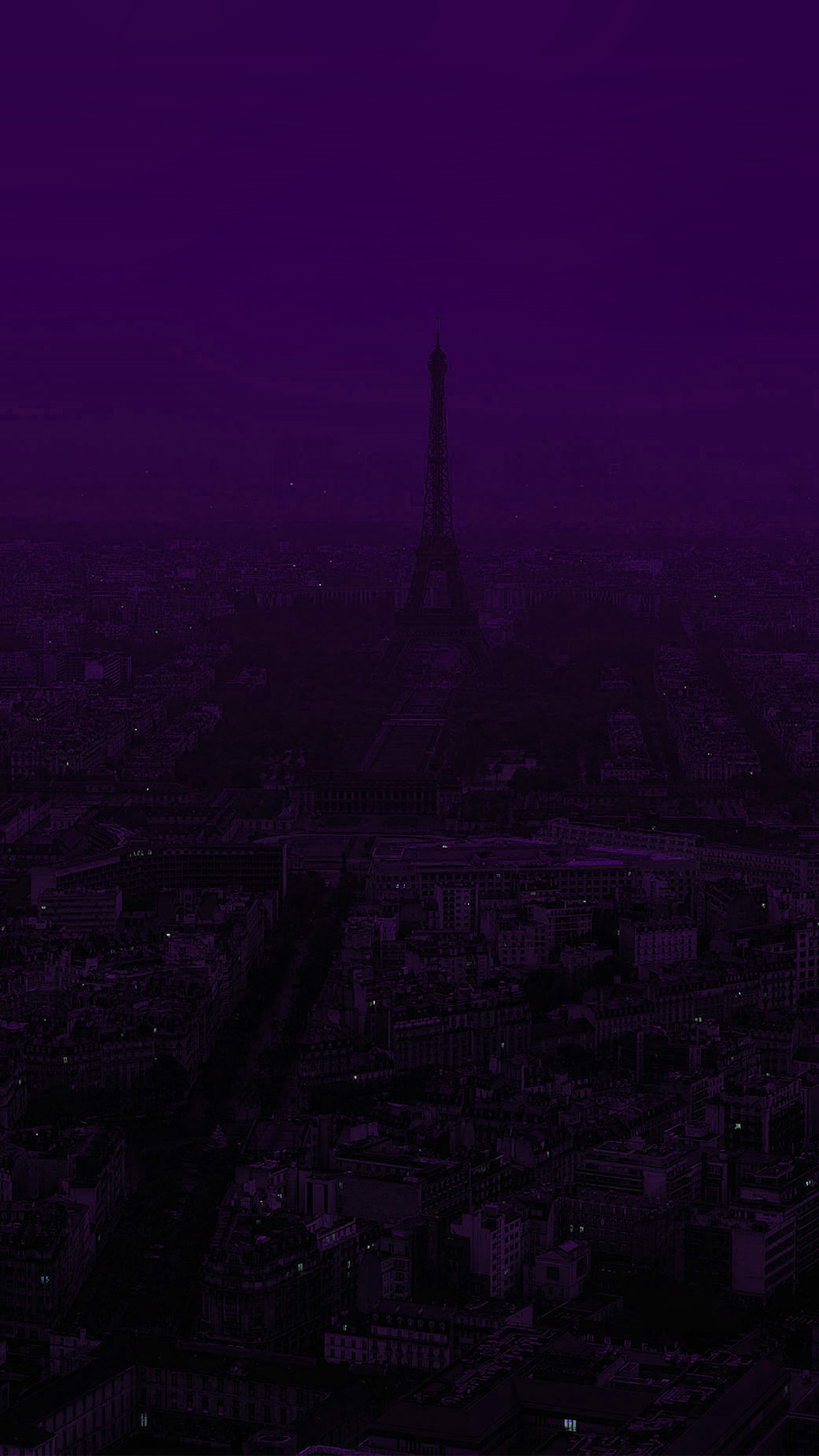 Papers Co Iphone Wallpaper Bb43 Paris Dark Purple City