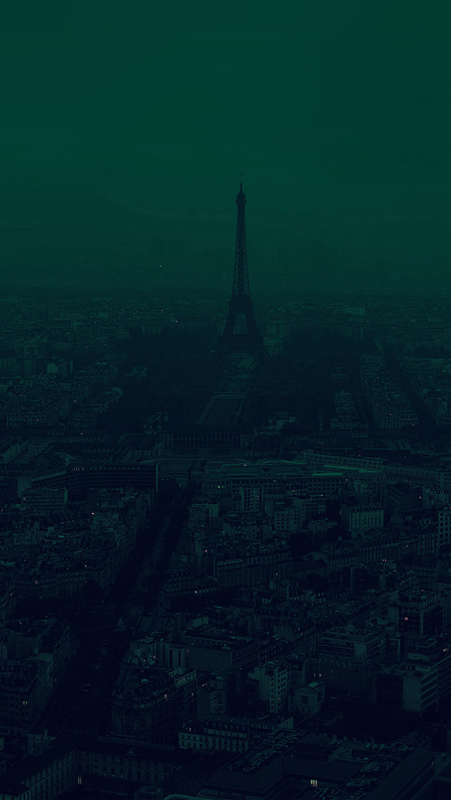 freeios8.com-iphone-4-5-6-plus-ipad-ios8-bb44-paris-dark-green-city-illustration-art