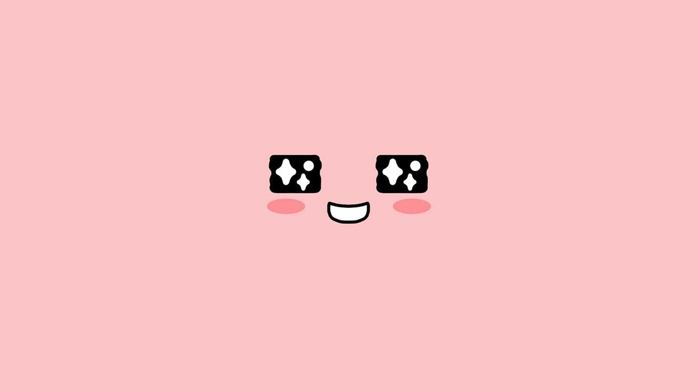 desktop-wallpaper-laptop-mac-macbook-air-bb55-cute-kakao-face-pink-illustration-art-wallpaper