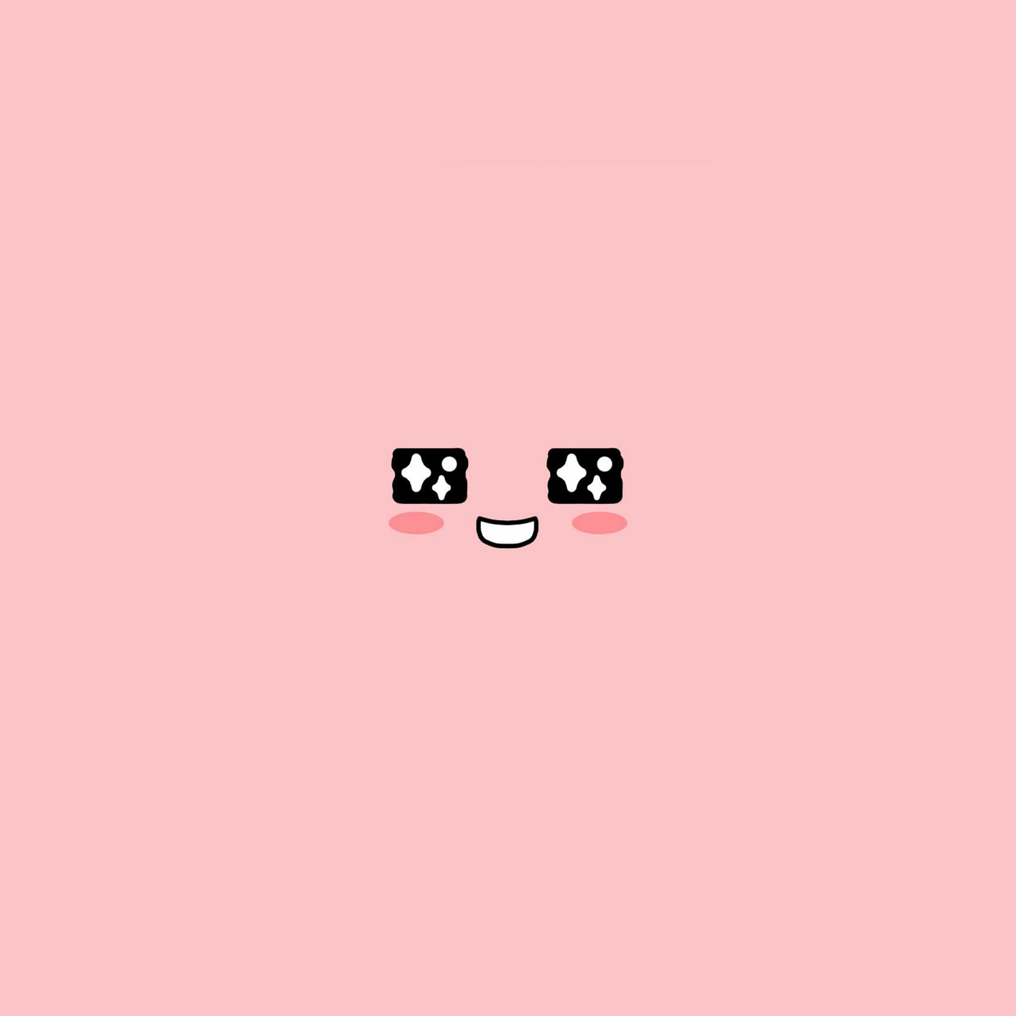 cute-kakao-face-pink-illustration-art ...