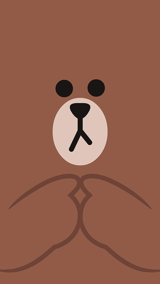 freeios8.com-iphone-4-5-6-plus-ipad-ios8-bb60-kakao-charactor-cute-brown-illustration-art