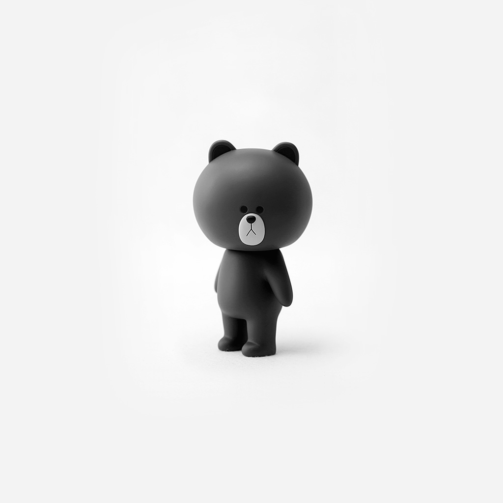 android-wallpaper-bc22-brown-cute-charactor-art-illustration-bw-wallpaper