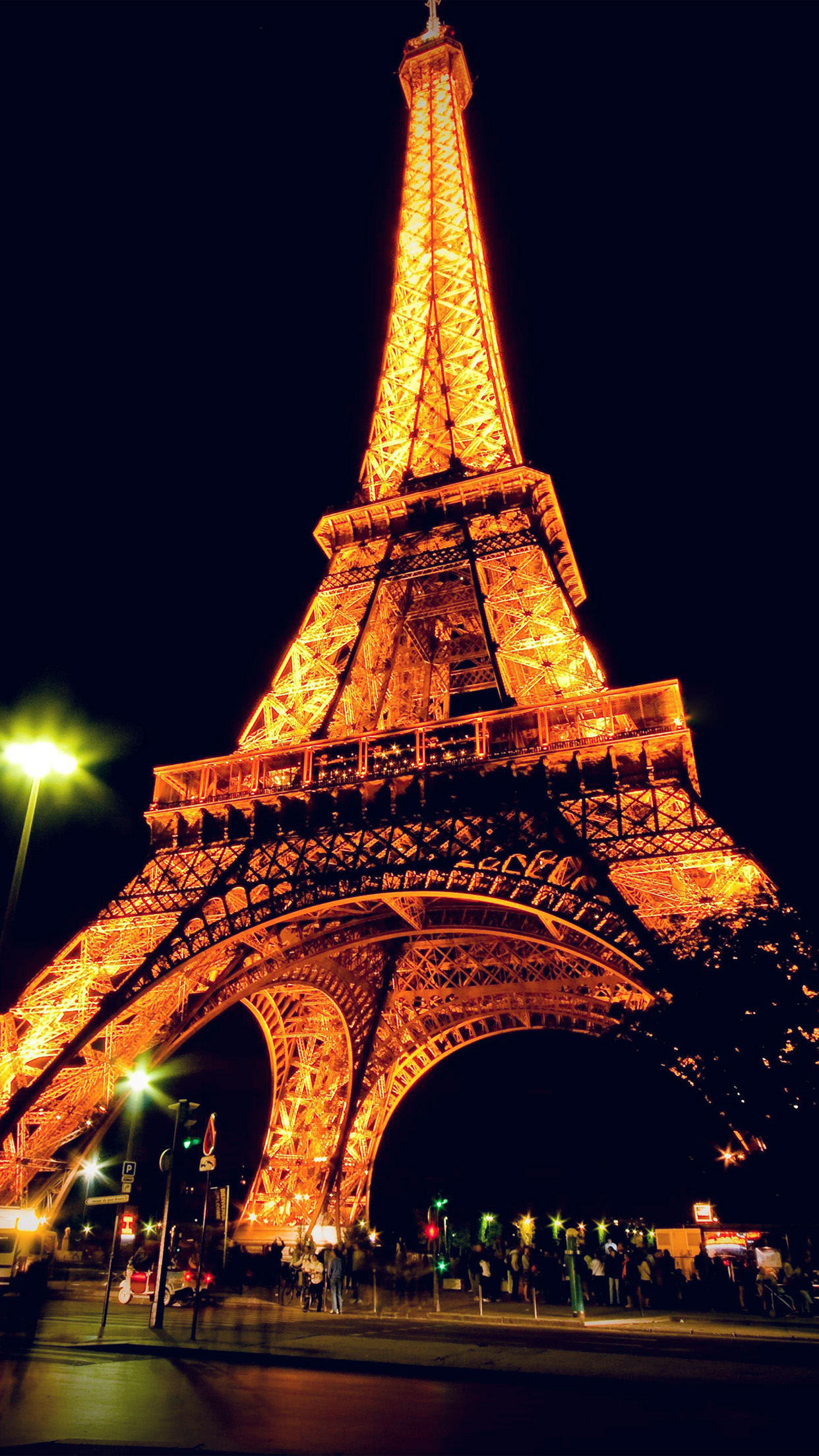 Bc23 Eiffel Tower Paris Night Art Illustration Wallpaper