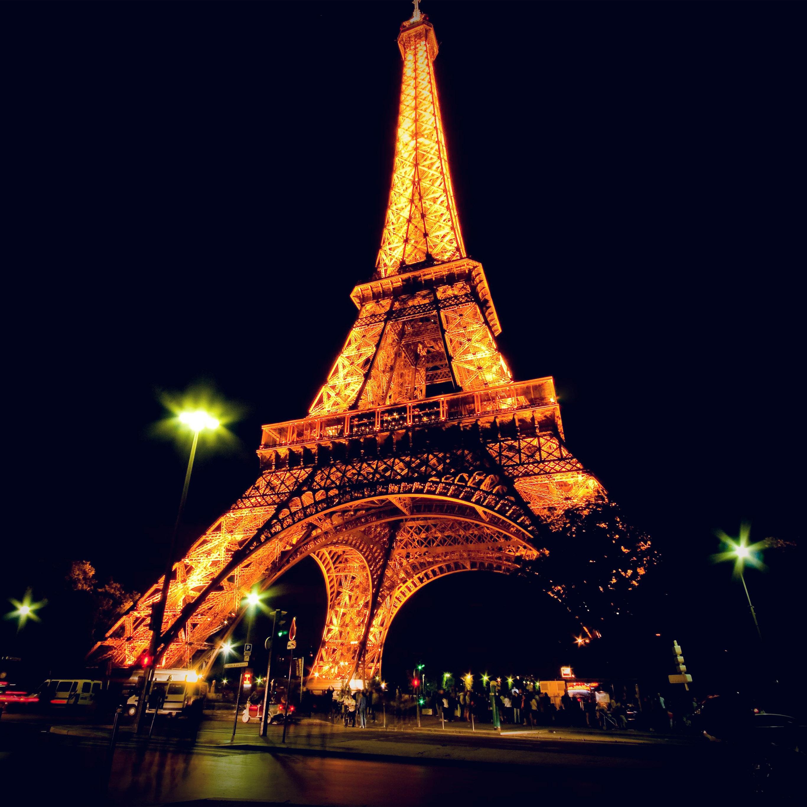 Bc23 Eiffel Tower Paris Night Art Illustration Wallpaper